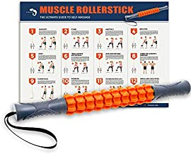 Kamileo Muscle Roller, Massage Roller for Relieving Muscle Soreness Cramping Tightness, Help Legs Back Joints Recovery (Workout Poster Included).