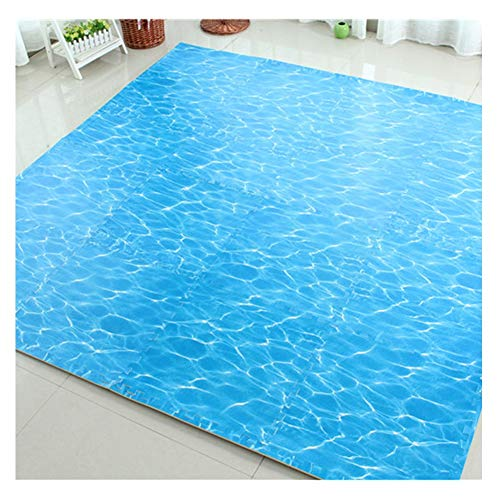 WAJIEFD Puzzle Tapis d'exercice Tapis Mousse Enfant Jigsaw Baby Crawling Mats Tapis De Sol Protecteur Yoga Facile À Nettoyer Décoratifs for La Maison Le Salon (Color : Blue, Size : 60X60X1CM-15PCS)