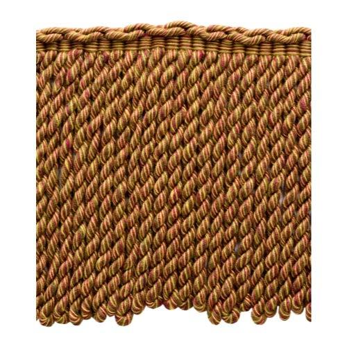 DecoPro BFEMP6 (21987) Bordure à Franges en Rubis Marron doré Vieilli 15 cm