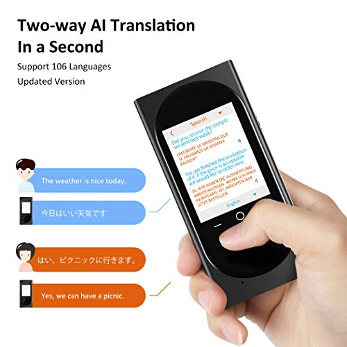 DUTERID Voice Translator Device with Camera Translation Function,Support 106 Language,Portable Two-Way Voice Interpreter for Traveling Learning Chatting Business (Black) Photo #6