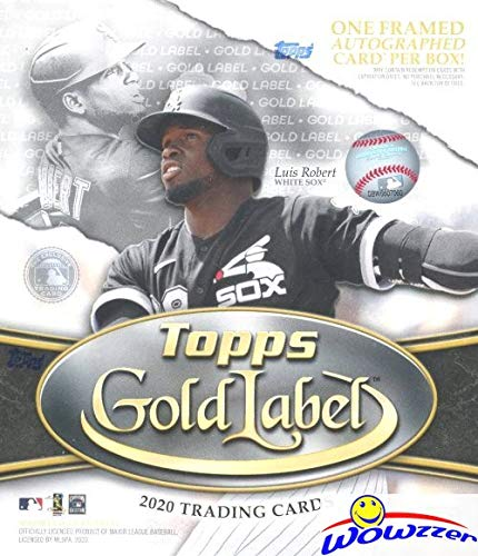 2020 Topps Gold Label Baseball Factory Sealed HOBBY Box with FRAMED AUTOGRAPH Card & 4 Parallels! Look for Autos of Mike Trout, Derek Jeter, Luis Roberts, Hank Aaron, Ken Griffey Jr & More! WOWZZER!