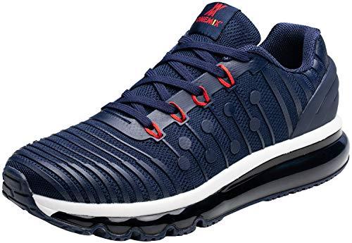 ONEMIX Laufschuhe Herren Fitness straßenlaufschuhe Sportschuhe Sneaker Luftkissenschuhe Joggingschuhe Freizeitschuhe für Männer 1319 Dunkelblau 46