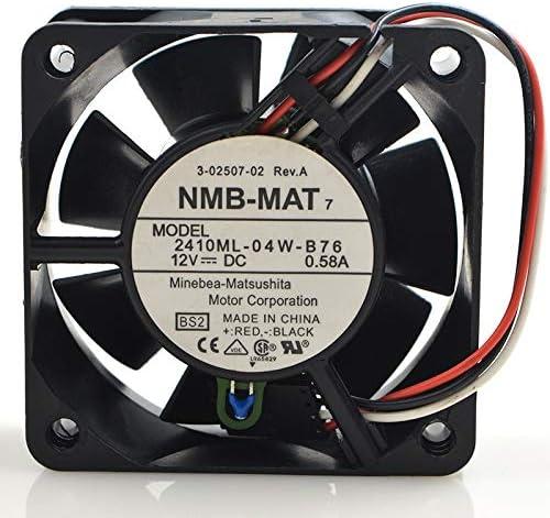FOR NMB Luxury 6025 12V 0.58A Intelligent Tem 2410ML-04W-B76 Attention brand Three-wire