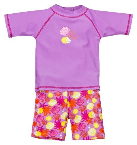 Landora: Baby- / Kleinkinder-Badebekleidung 2er Set mit UV-Schutz 50+ und Oeko-Tex100, violett in Größe 62/68 …