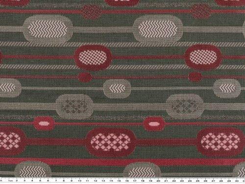 Tissu jacquard, geom. motifs/gris/fuchsia-taille 140 cm
