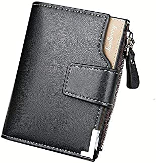 Baellerry Black Faux Leather For Men - Smart Wallets