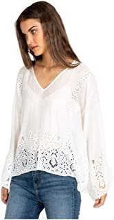 Johnny Was Jade Women's Colette Eyelet Top, Antique White, Large