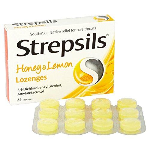 Strepsils Honey and Lemon Lozenges - 24- Pack