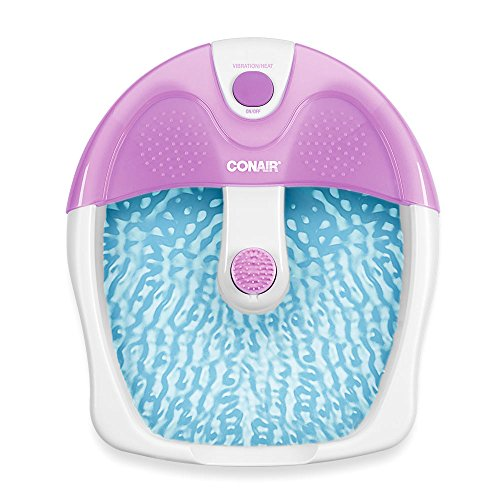 Conair Foot Pedicure Spa with Soothing Vibration Massage, Lavender/White