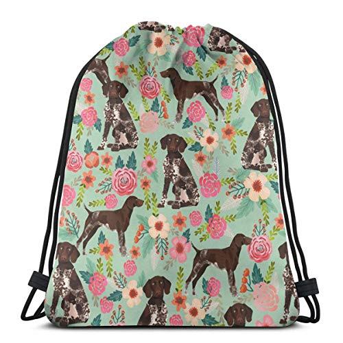 Lsjuee Shoulder Drawstring Bag Rgsp Florals Mist Green Shop Preview Backpack Sport Bag String Bags School Rucksack Gym Lightweight