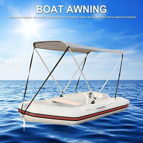QUUY Aufblasbare Kajak Markisen Faltbare Schlauchboot Baldachin Schlauchboot Dach Bootszelt Camping Sonnenschutz Angelzelt 160x120x110cm