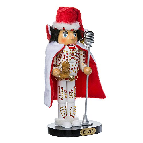 Elvis Presley Kurt Adler Elvis in White Suit Nutcracker, 10-Inch