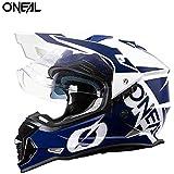 ONEAL オニールモトクロス オフロード ヘルメット オフロードヘルメット ダブルシールド 現行モデル デュアルスポーツ 対応 (A9, M(頭囲57-58cm))
