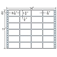 東洋印刷 タックフォームラベル 14インチ ×11インチ 24面付(1ケース500折) MT14N
