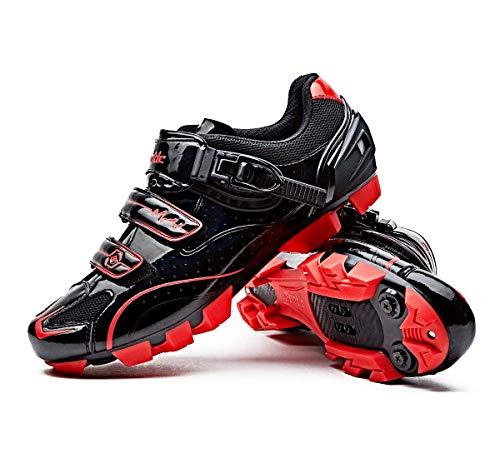 Santic Moutntain Cycling Shoes Men MTB Bike Shoes SPD Mountain Bike Shoes with Buckle