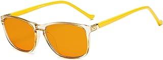 d4ce24b6e8 Eyekepper lunettes anti lumiere bleue a 97% pour des enfants, verre orange  foncee Lunettes