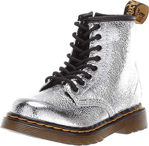 Dr. Martens Kid's Collection Baby Girl's 1460 (Toddler) Silver 7 UK (US 8 Toddler)