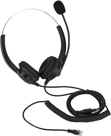 Cuffie telefoniche da 2,5 mm, cuffie senza suono Cuffie con microfono da 360 ° Cuffie auricolari rotanti per cuffie Call Center nere (Color : Crystal plug) - Trova i prezzi più bassi