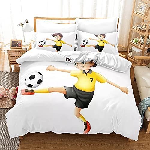 Funda de edredón de baloncesto para niños, juego de cama de baloncesto para niños o niñas, funda de edredón de fútbol