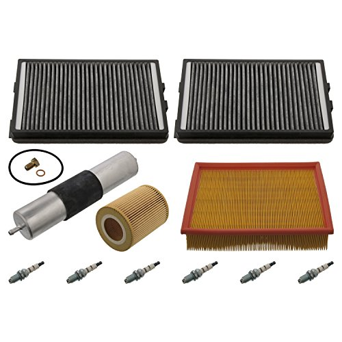 Febi Bilstein 37322 Onderhoudspakket - 1 x luchtfilter, 1 x oliefilter, 2 x interieurfilter, 1 x brandstoffilter, 6 x bougie, 1 x olieaftapschroef