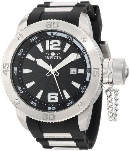 Invicta 12963 - Reloj de Pulsera Hombre, Poliuretano, Color Negro