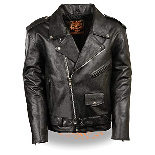 Milwaukee Leather LKY1950 Youth Size Classic Style Police Biker Leather Jacket - 32