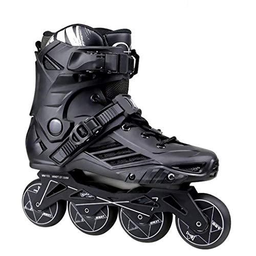 LQ Speed Inline Roller Skates Profi Roller Skating-Schuhe for Kinder Männer Frauen, 2 Farben (Color : Black, Size : 36 EU/4.5 US/3.5 UK/23cm JP)