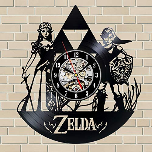 Zelda Art Vinyl Wall Clock Gift Room Modern Home Record Vintage Decoration