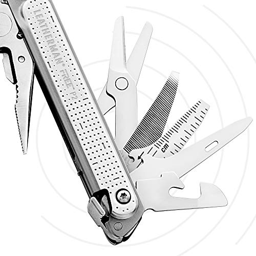 LEATHERMAN, FREE P2 Multitool with Magnetic Locking, One Size Hand Accessible Tools and Premium Nylon Sheath