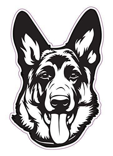 WickedGoodz German Shepherd Decal - Dog Breed Bumper Sticker - Shepherd Dog Owner Sticker
