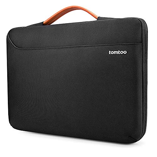 tomtoc Laptop Bag Sleeve for 2020 New Dell XPS 15, 15-inch MacBook Pro with USB-C A1990 A1707, 15 Inch Surface Laptop 3, 14 ThinkPad X1 Yoga (2/3rd Gen), Waterproof Protective Case for 14 Chromebook
