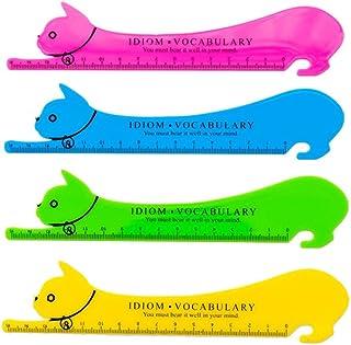 Kentop Règle en Plastique Kawaii Motif de chat animale Ruler Dessin Tailleur Instrument de Mesure Règle de Couture Fournit...