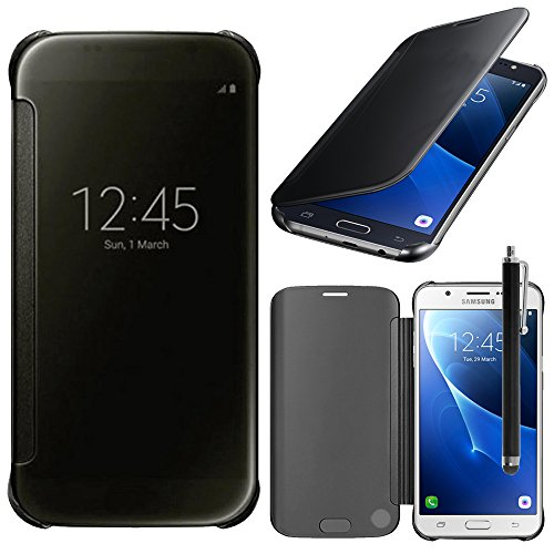 HCN PHONE Samsung Galaxy J7(2016) Cover Custodia in Silicone Gel Starr Wallet Custodia Libro Portafoglio per Samsung Galaxy J7(2016)