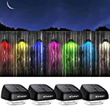 Solar Fence Post Lights OTHWAY Outdoor Waterproof Colorful Decorative...