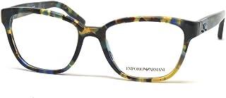Armani EA3094 Eyeglass Frames 5542-52 - Havana Spot Blue EA3094-5542-52