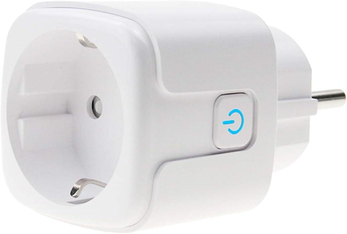 con control remoto y control de voz Enchufe inteligente WiFi que muestra el estado de la bater/ía solo a 2,4 GHz. Google Home funciona con Alexa enchufe Alexa de 16 A