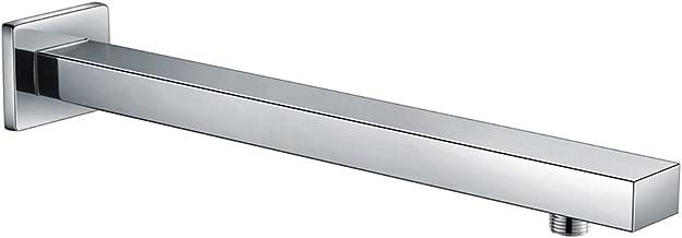 S R SUNRISE Brausearm Wandarm Duscharm Messing fur Regenduschkopf Quadratisch Verchromt 400MM Silver 16inch Edelstahl