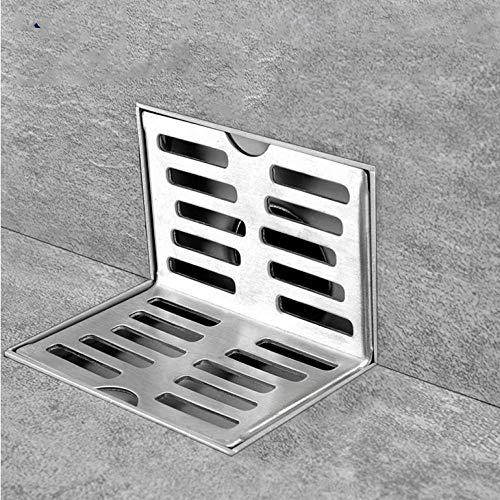 Hiwenr Edelstahl Seitenablauf Wand Seitenbrause Ablauf Balkon Wand Ecke Bodenablauf Wandablauf mit derselben Schicht