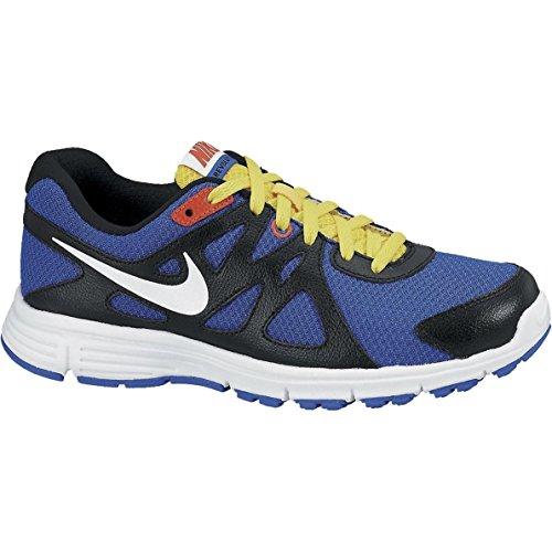 Nike Revolution 2 GS, Scarpe da Corsa Unisex-Kids, Blu/Giallo, EU 36 (US 4Y)