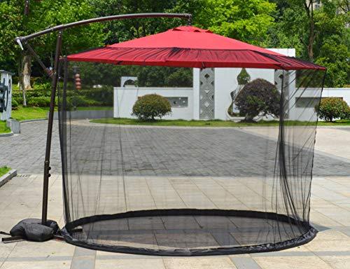 ClothHouse Plusieurs Tailles Parasol Bug Écran Extérieur Table Parapluie Écran Moustiquaire avec Fermeture Éclair Porte, Netting Polyester, Noir,300 * 230cm