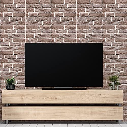 Piedra marrón claro,5 hojas,60*60CM,Adhesivos de pared,3D,Autoadhesivo,Espuma gruesa,Impermeable,Pared de sala de estar y Dormitorio y fondo,Decoración,Decoración,Arte,Bricolaje,Decoración del hogar