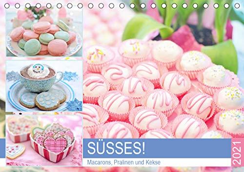 Süsses! Macarons, Pralinen und Kekse (Tischkalender 2021 DIN A5 quer)