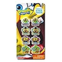 Spongebob Squarepants 8pk Shaped Erasers on Blister Card
