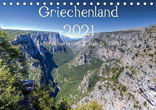 Griechenland 2021 - Zagorochoria und Vikos-Schlucht (Tischkalender 2021 DIN A5 quer)