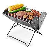 Charcoal Grill Folding with Travel Bag & Grill Lifter Folding, COWEKAI Portable Lightweight Barbecue...