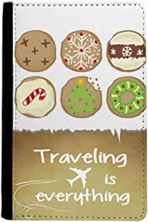 Circle Christmas Tree Green Illustration Traveling quato Passport Holder Travel Wallet Cover Case Card Purse