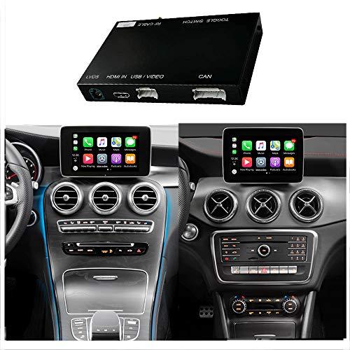 Road Top Retrofit Kit Decoder with Apple Wireless Carplay & Android Auto Mirrorlink for Mercedes Benz C W205 GLC CLA GLA Class C200 C250 GLC250 GLC300 CLA200 CLA250 CLA 45 AMG GLA250 2015-2018 Year