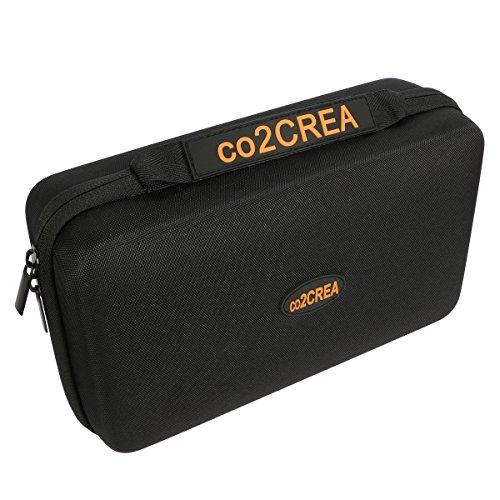 """co2CREA (TM Universal Hard Shell EVA Carrying Storage Travel Case Bag for Powerbank HDD/Electronics/Accessories Extra Large (10.2""""x""""6.4"""