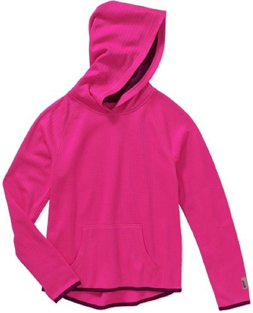 Avia Girls' Cool Textured Fleece Hoodie with Kangaroo Pocket