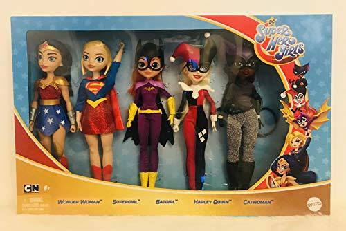 DC 5 Super Hero Girls Teen Dolls Wonder Woman Supergirl Harley Quinn Catwoman